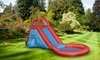 Inflatable Backyard Water Slide and Pool : Inflatable Backyard Water Slide and Pool