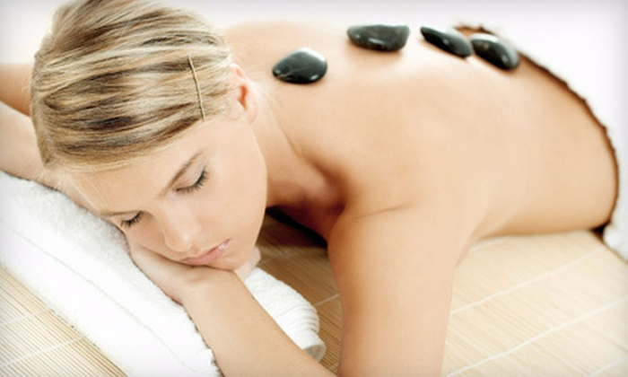 SunSera Salons - Multiple Locations: Hot-Stone Massage With or Without Infrared-Sauna Session at SunSera Salons (Up to 55% Off). Three Options Available.