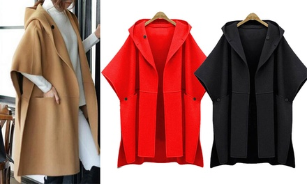 Womens Wool Blend Cape Coat: One ($39) or Two ($69) (Dont Pay up to $219.90)