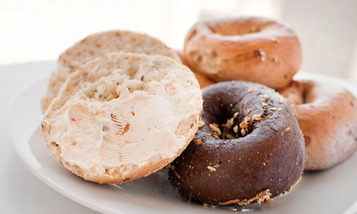 Bagelwich Bagel Bakery - Multiple Locations: One or Two Dozen Bagels With Cream Cheese at Bagelwich Bagel Bakery (Up to 53% Off)