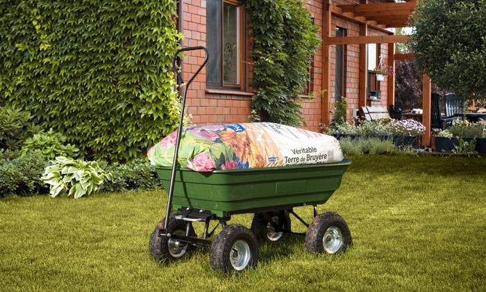 chariot remorque de jardin groupon shopping. Black Bedroom Furniture Sets. Home Design Ideas