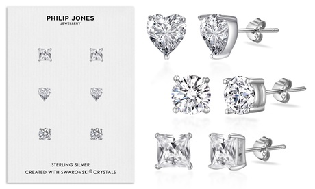 3 o 6 pares de pendientes con cristales de Swarovski®