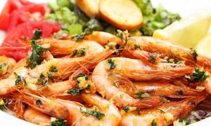 Restaurant Schifferklause: 1 oder 2 kg Scampi für zwei oder vier Personen mit Champignons im Restaurant Schifferklause (bis zu 28% sparen*)