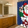 """Up on The Rooftop"" Holiday Fabric Shower Curtain"