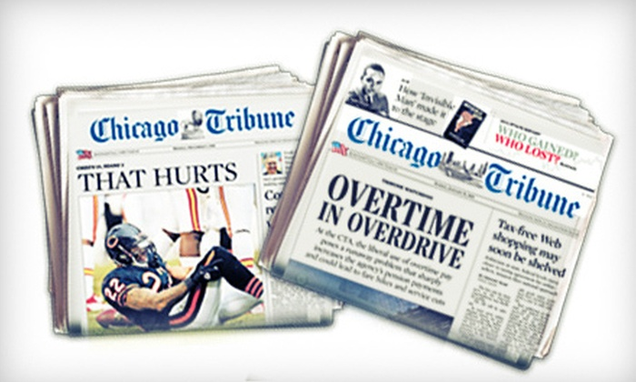 "Chicago Tribune - Chicago: One- or Two-Year Sunday-Edition Home-Delivered Subscription to ""Chicago Tribune"" (Up to 82% Off)"