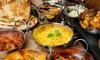Buffet indien à volonté avec entrées, plats, nans natures et desserts pour 2 personnes à 28,90 € au restaurant Le Kolam