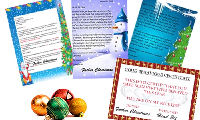 personalised letter from santa groupon goods With personalised santa letter groupon
