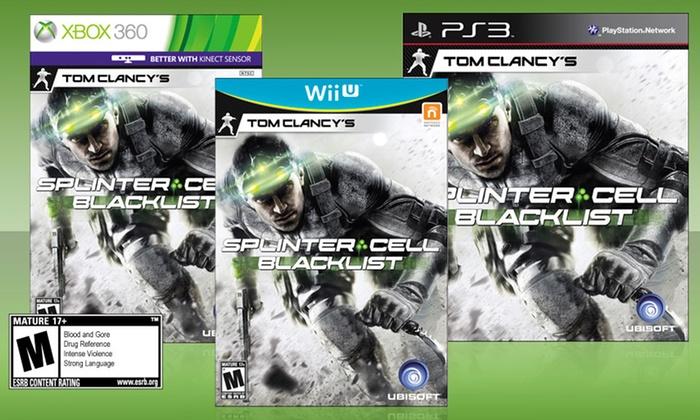 Splinter Cell: Blacklist for PS3, Wii U, or Xbox 360: Tom Clancy's Splinter Cell: Blacklist for PS3, Wii U, or Xbox 360. Free returns.