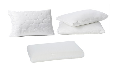 TwoPack of Quilted Pillow Protectors $15, Memory Foam Pillows $29 or Luxury HotelQuality Pillows $39