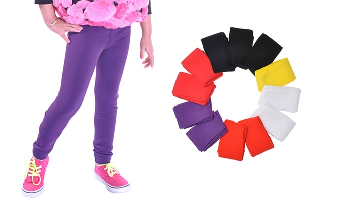 56e26c597a205 Girls' Fleece-Lined Leggings | Groupon Goods