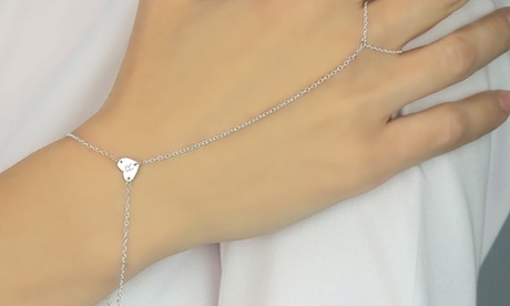 Monogram Online Initial Finger Bracelet in Sterling Silver 491df636-06b5-41b3-80cd-376610905ad8