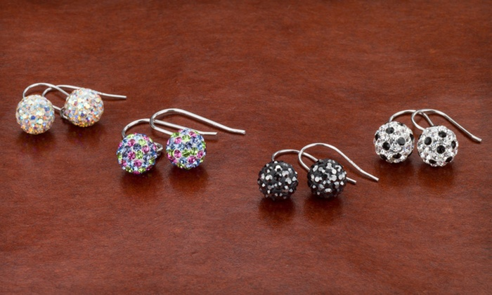 8mm Crystal Ball Earrings: $8.99 for 8mm Crystal Ball Earrings