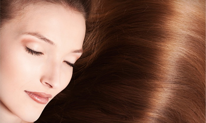 Artricia Balenci Salon and Spa - Midlothian: Women's Haircut with Highlights or Brazilian Blowout at Artricia Balenci Salon and Spa in Midlothian (Up to 58% Off)