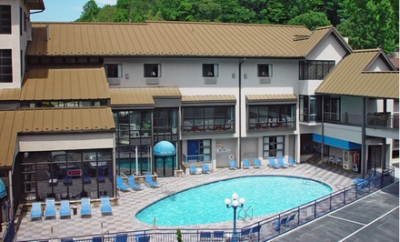 groupon daily deal - Stay at Sidney James Mountain Lodge in Gatlinburg, TN; Dates into May