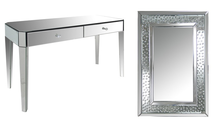 Home Gear - Vaughan: Mirror or Mirror Console Table from Home Gear (Up to 53% Off). Eight Options Available.