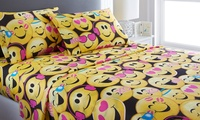 Deals on Emoji Collection Microfiber Sheet Set Twin