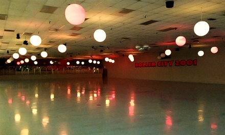Admission, Skates, and Sodas for Four or Birthday Party for Up to 10 Kids at Roller City 2001 (Up to 56% Off)