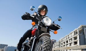 Motorcycle Safety School: Introduction to Motorcycle Experience for One or Two at Motorcycle Safety School (Up to 62% Off)