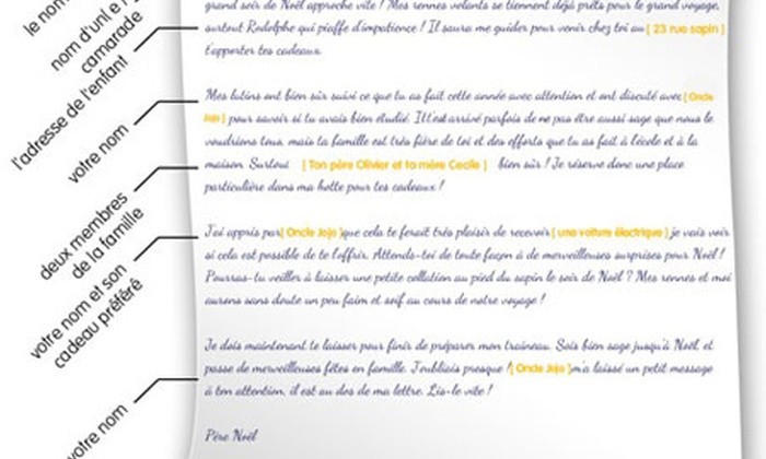 Lettre Pere Noel Groupon.Lettre Du Pere Noel Personnalisee Groupon Shopping