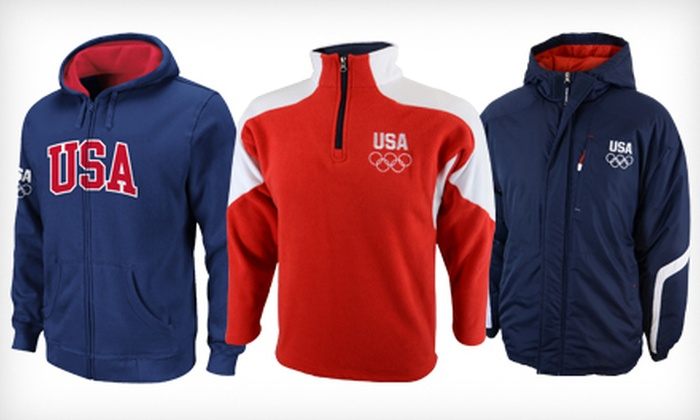 Official Olympic USA Apparel: Official Olympic USA Apparel (Up to 64% Off).  Multiple Styles and Sizes Available.