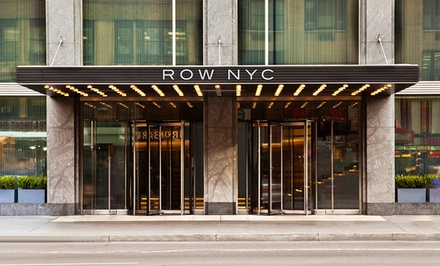 groupon daily deal - Stay with pizza and drink package at Row NYC in New York City; Dates into March 2015
