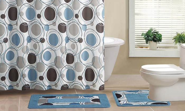 15-Piece Bath Set with 2 Bath Mats: 15-Piece Bath Set with 2 Bath Mats. Multiple Colors Available. Free Shipping and Returns.