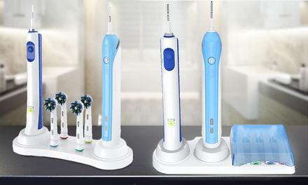 1 ou 2 organiseurs de brosse à dents électrique disponible avec ou sans couvercle