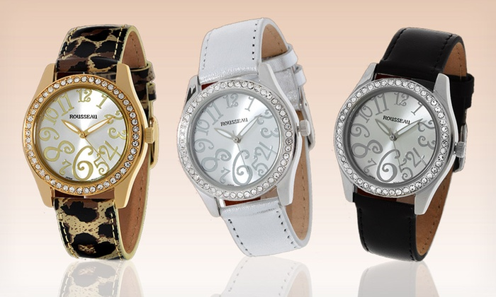 Rousseau Men's and Women's Watches: Rousseau Men's and Women's Watches with Metal Cases (Up to 96% Off). Multiple Styles. Free Shipping and Returns.