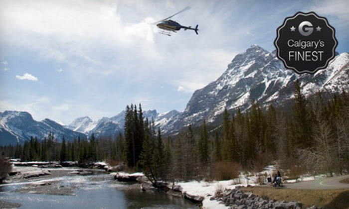 Kananaskis Heli Tours - Rafting Base: Helicopter Tour and Wilderness Stop for One, Two, or Four from Kananaskis Heli Tours (Up to 54% Off)