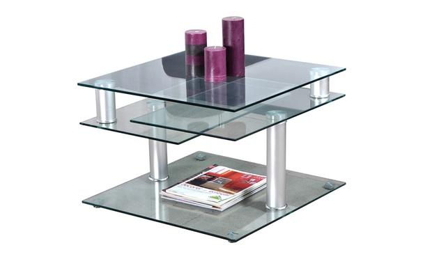 table basse plateaux pivotants groupon shopping. Black Bedroom Furniture Sets. Home Design Ideas