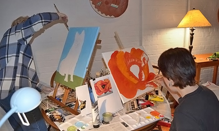 Brush N Canvas - Multiple Locations: Painting Lesson for One, Two, or Four at Brush N Canvas (Up to 52% Off)
