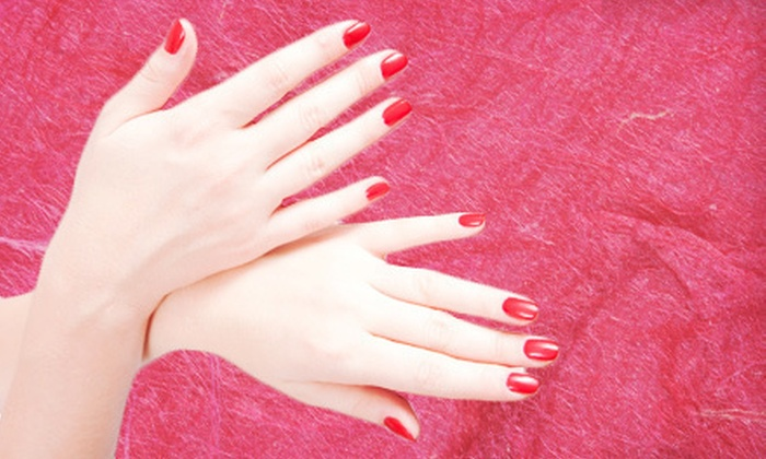 A+ nails salon - Markham: $35 for an A+ Mani-Pedi with Seaweed Creamy Mask and Massage at A+ nails salon ($80 Value)