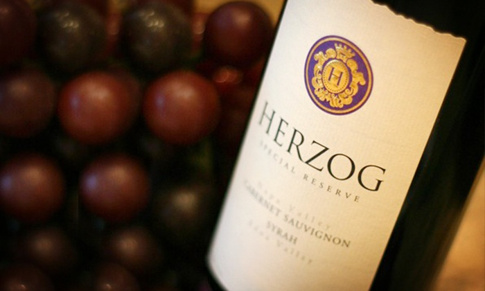 Herzog Wine Cellars - Oxnard: Wine Tasting for Two or Four with Souvenir Glasses and Bottle of Wine at Herzog Wine Cellars (Up to 54% Off)