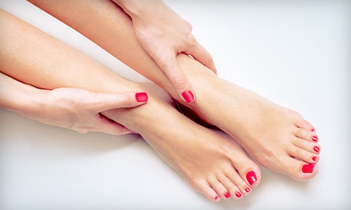 Polished Nail Salon - University Heights: $37 for a Shellac Manicure and Spa Pedicure at Polished Nail Salon in Cleveland Heights ($75 Value)