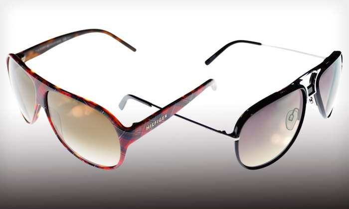 Tommy Hilfiger Sunglasses: $39 for Tommy Hilfiger Sunglasses (Up to $186 List Price). Multiple Styles Available. Free Shipping and Free Returns.