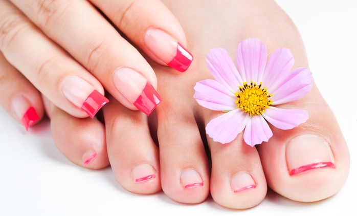 Classic or Shellac Manicure with Pedicure at Dante Salon & Wellness Spa (Up to 51% Off)