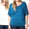 Women's Plus Size Dolman Tunic (2-Pack)