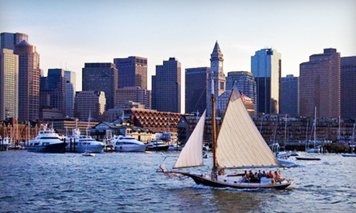 """Come Sail Away Now - Thompson Square - Bunker Hill: Two-Hour Traditional Sailing Adventure on Boston Harbor aboard """"Tupelo Honey"""" for One or Four from Come Sail Away Now (Up to 53% Off)"""