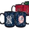 Set of 2 Black and Swirl MLB Team Logo Mugs