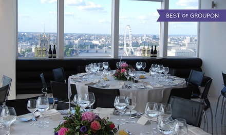 Ultimate VIP Brunch In The Sky with Drinks and Panoramic Views of London for One or Two at Altitude 360 (37% Off)