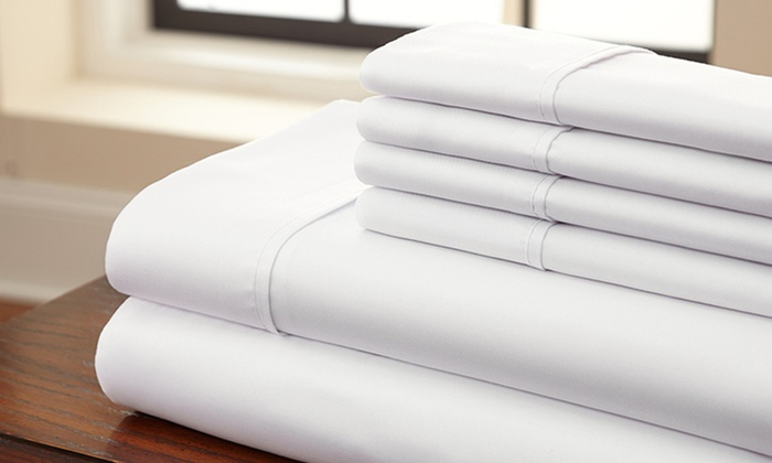 Charmant 1,200TC 100% Egyptian Cotton 4 Piece Sheet Set ...