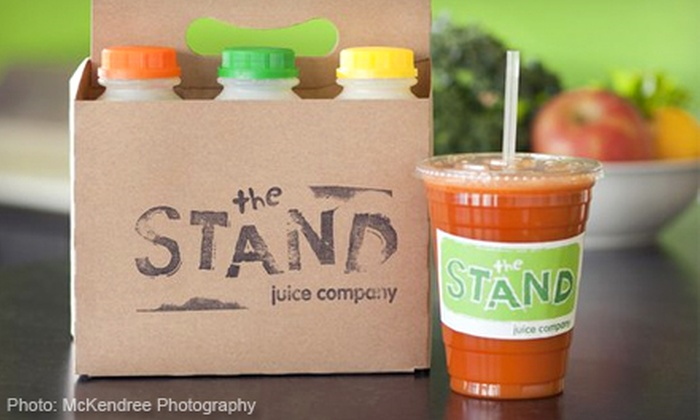 The Stand Juice Company - Multiple Locations: Three- or Five-Day Juice Cleanse at The Stand Juice Company (Up to 55% Off)