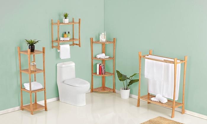 bamboo bathroom storage and shelving bamboo bathroom storage and shelving from