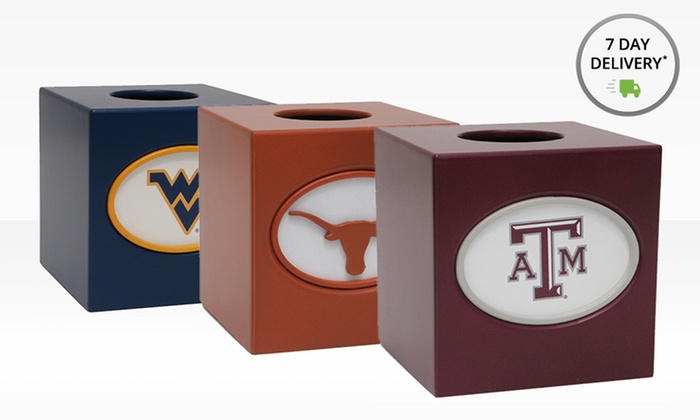 NCAA Tissue Box Cover: NCAA Tissue Box Cover. Multiple Collegiate Teams Available. Free Shipping and Returns.