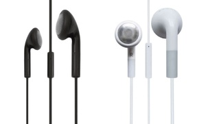 Qfx Earbud Headphones With In-line Mic 10-pack