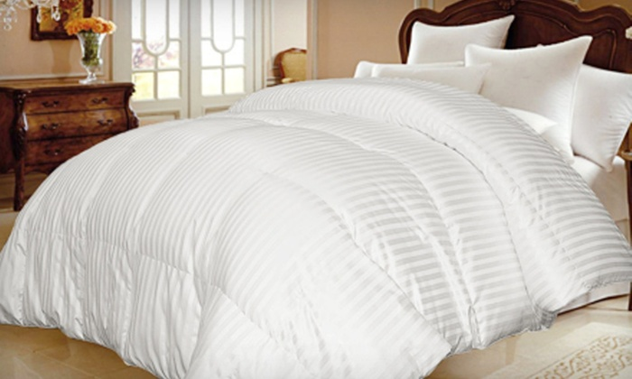 European White Goose-Down Comforter: European White Goose-Down Comforter in Twin, Full/Queen, or King (Up to 68% Off). Free Shipping and Free Returns.