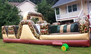 Shelf Service: Inflatable Basketball Court or Obstacle Course from Shelf Service (50% Off)