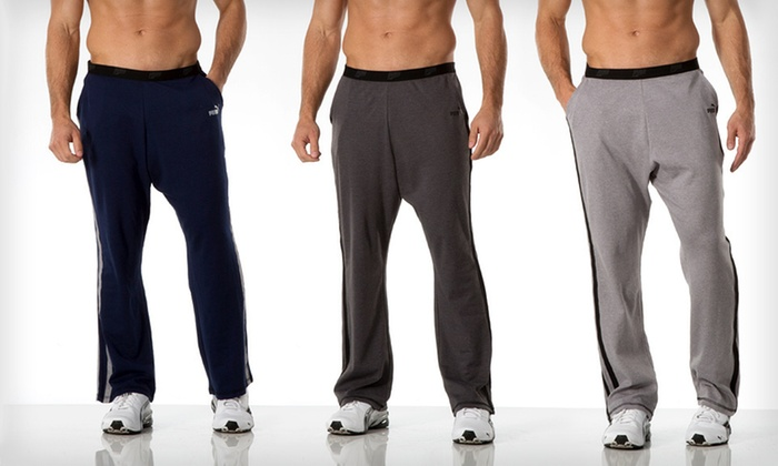 Puma Men's Lounge Pants: $19 for Puma Men's Lounge Pants ($42 List Price). Multiple Sizes and Colors Available. Free Shipping and Returns.