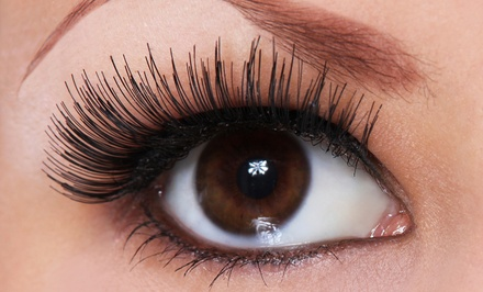 Full Set of Synthetic or Siberian Mink Eyelash Extensions with Option for Two-Week Fill-In (Up to 64% Off)