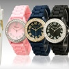 $7 for a Women's Crystal Silicone Watch